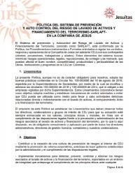 Política del Sistema de Prevención y Auto Control del Riesgo de Lavado de Activos y Financiamiento del Terrorismo - SARLAFT